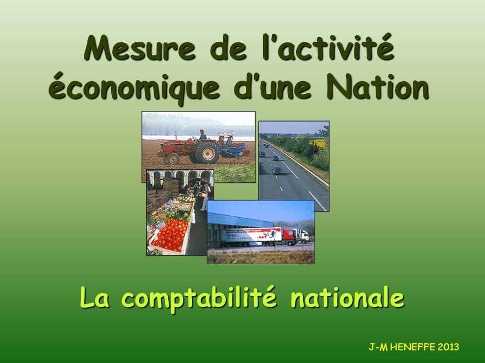 Mesure de l'activité économique d'une Nation