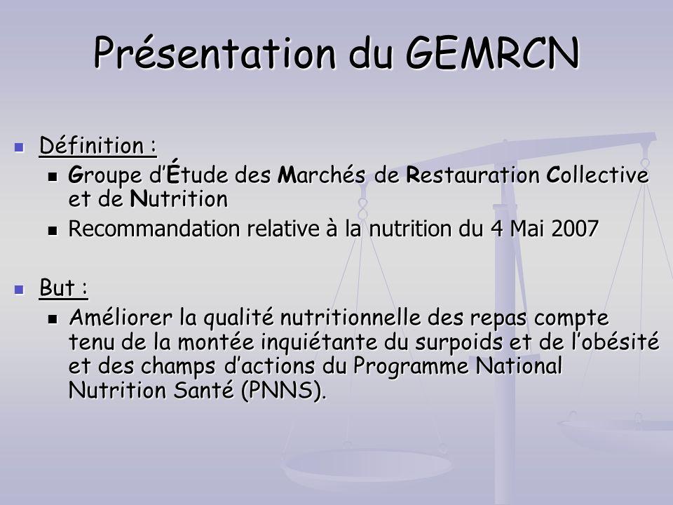Présentation du GEMRCN