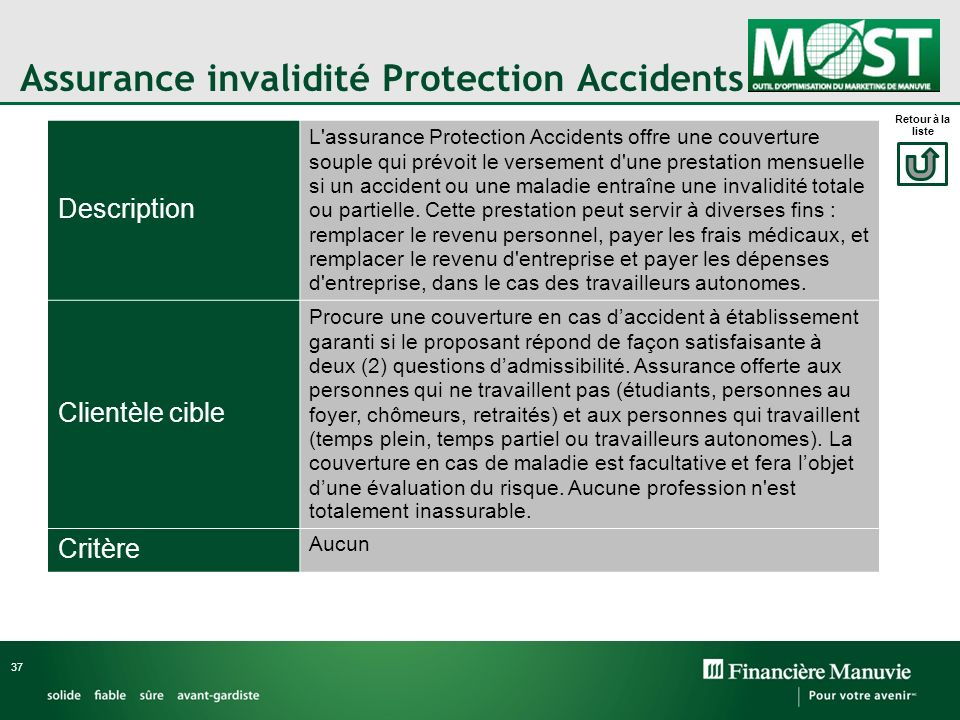 Assurance invalidité Protection Accidents