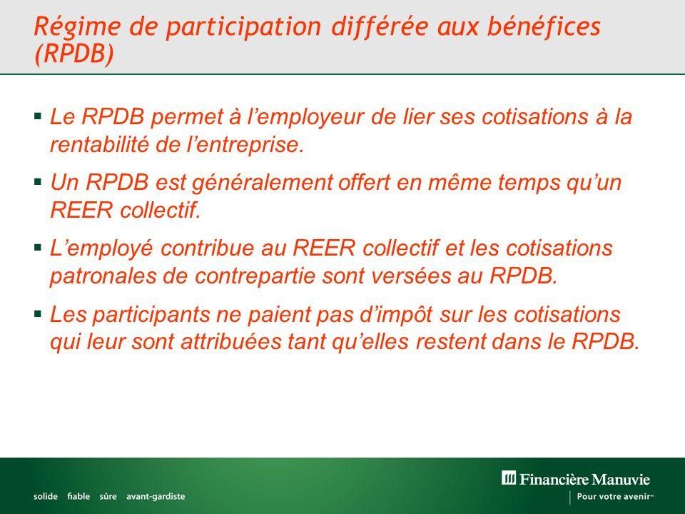 Régime de participation différée aux bénéfices (RPDB)