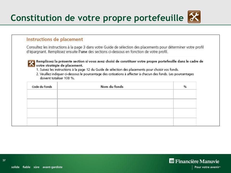 Constitution de votre propre portefeuille