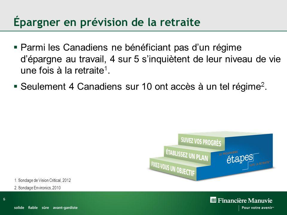 Épargner en prévision de la retraite
