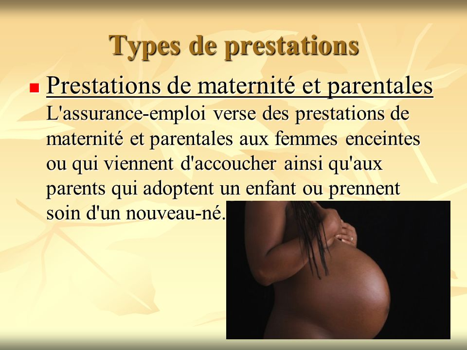 Types de prestations