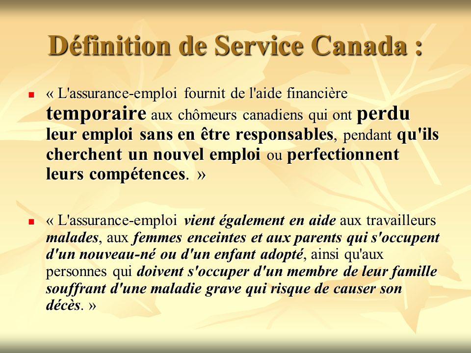Définition de Service Canada :