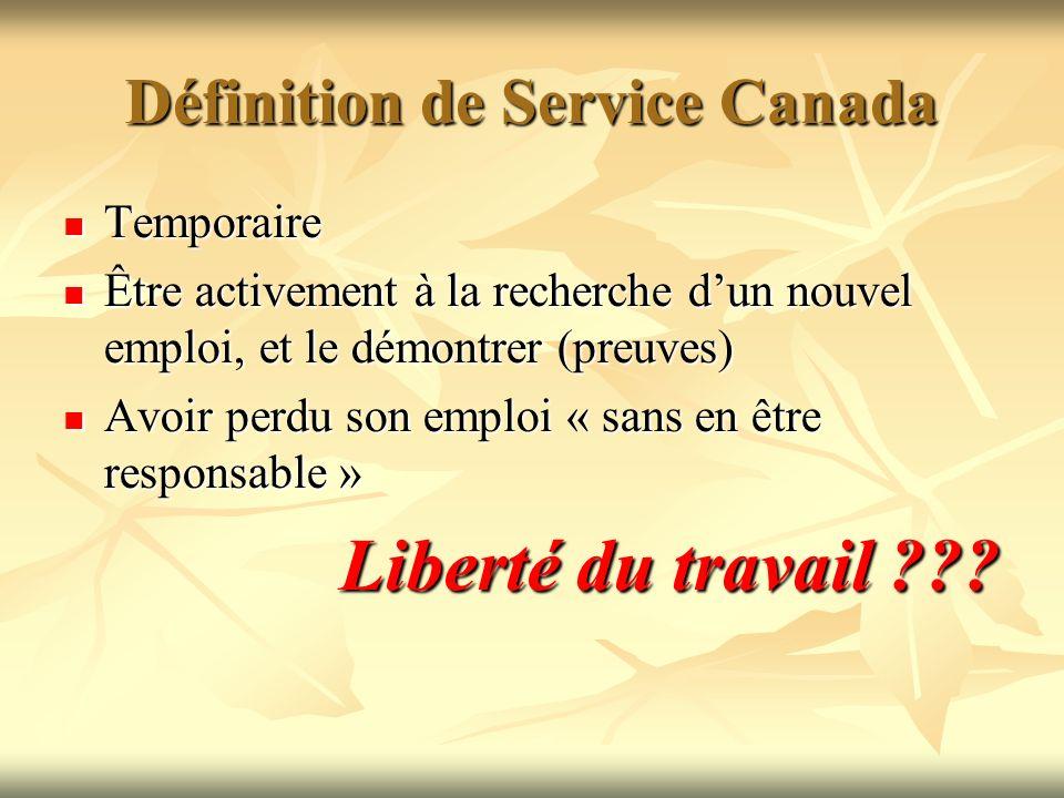 Définition de Service Canada