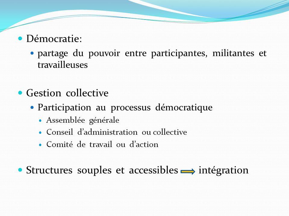 Structures souples et accessibles intégration