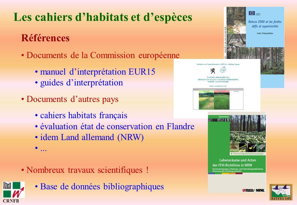 Les cahiers d'habitats et d'espèces