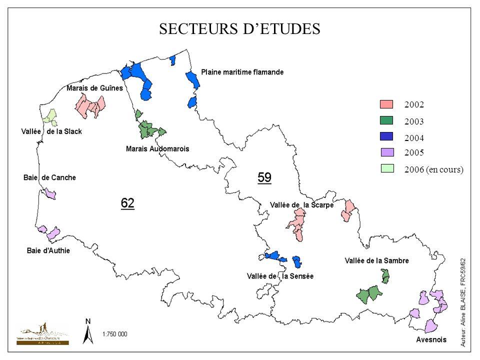 SECTEURS D'ETUDES 2002 2003 2004 2005 2006 (en cours)