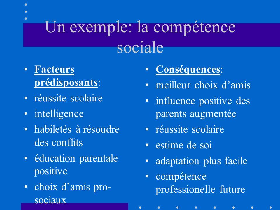 Un exemple: la compétence sociale