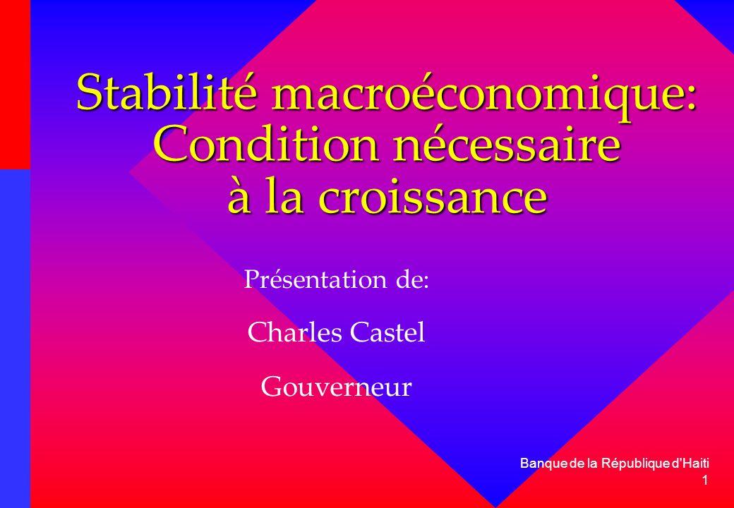 Stabilité macroéconomique: Condition nécessaire à la croissance