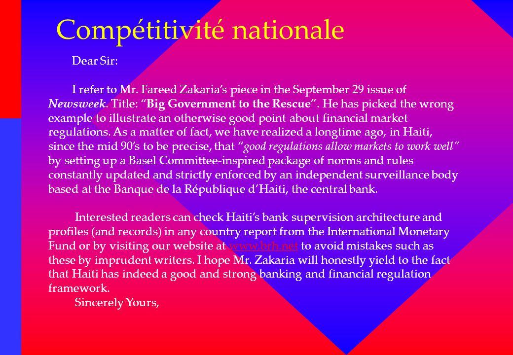 Compétitivité nationale