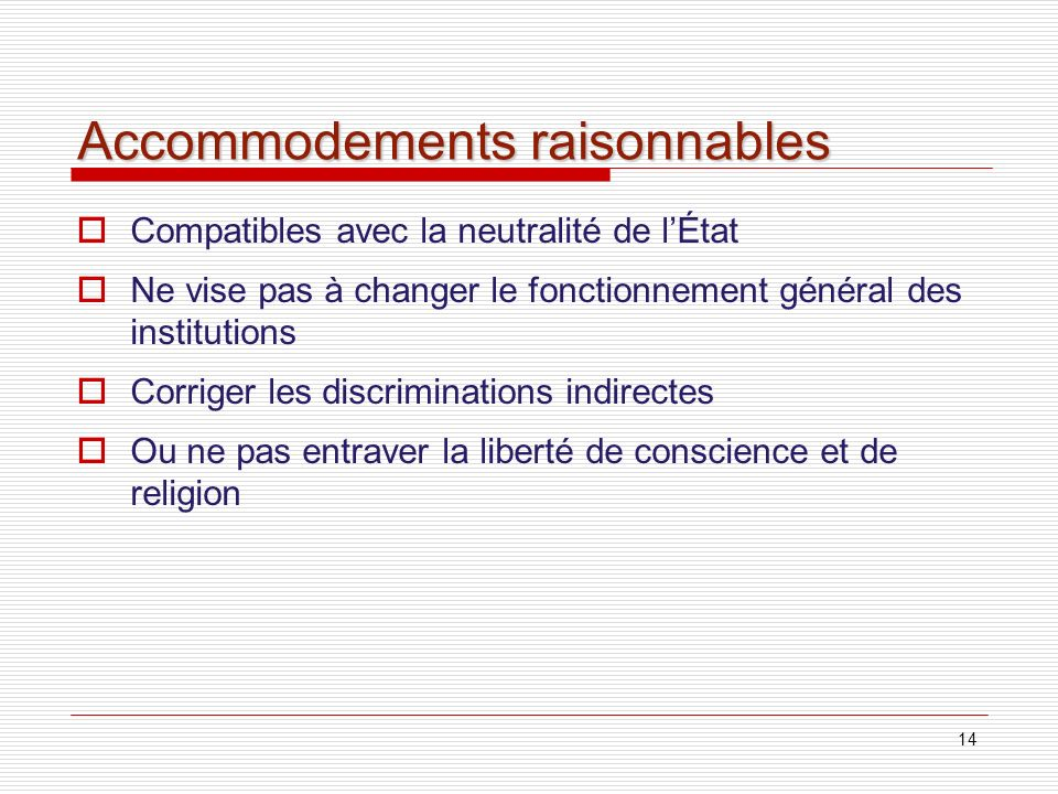 Accommodements raisonnables