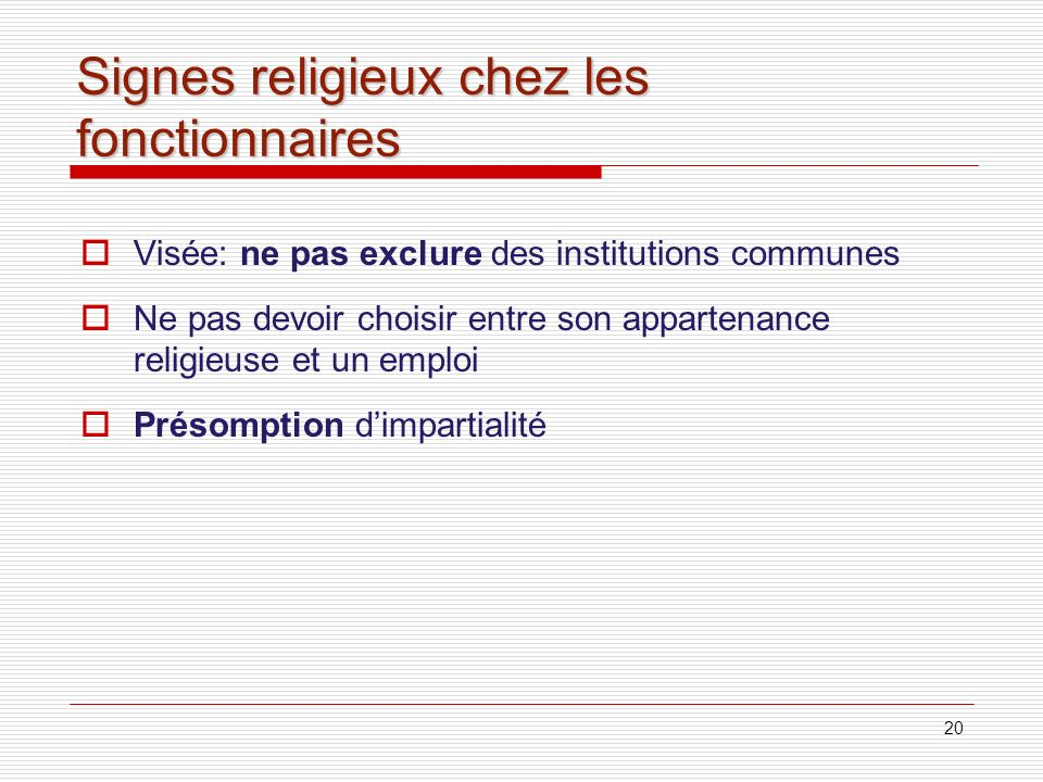 Signes religieux chez les fonctionnaires