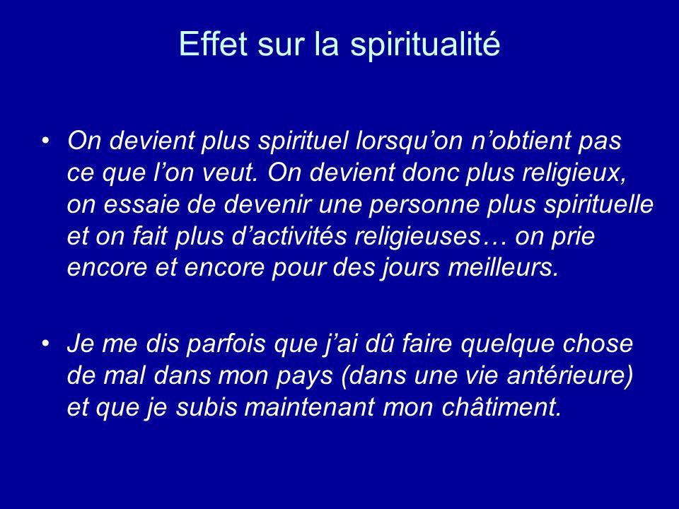 Effet sur la spiritualité