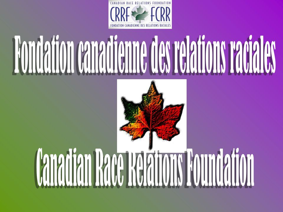 Fondation canadienne des relations raciales