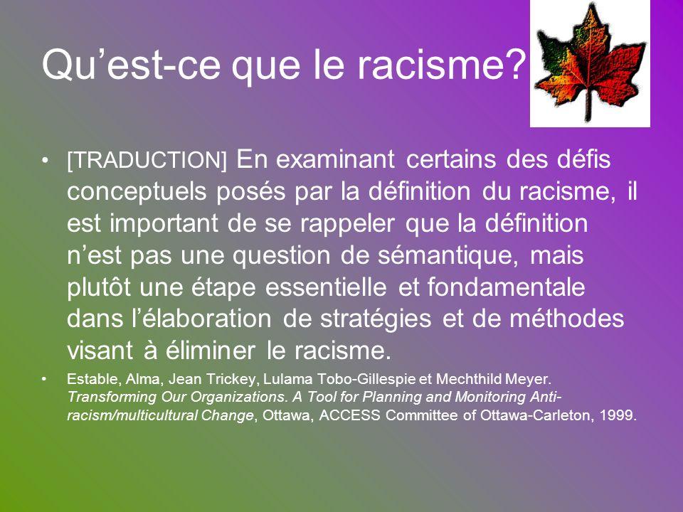 Qu'est-ce que le racisme