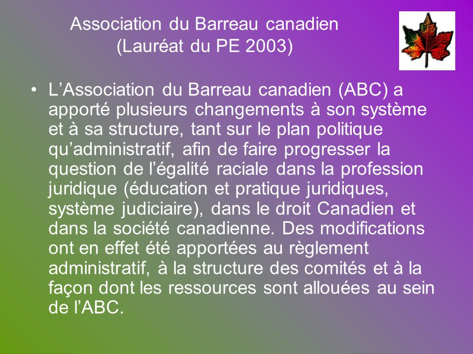 Association du Barreau canadien
