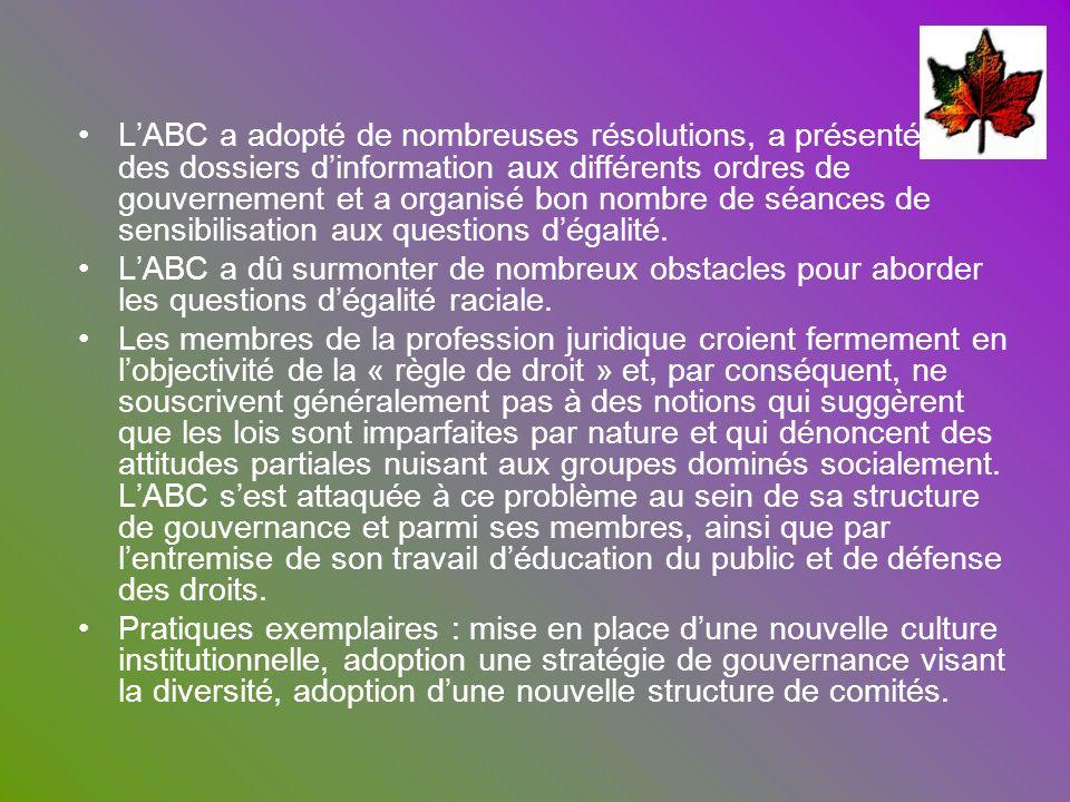 L'ABC a adopté de nombreuses résolutions, a présenté