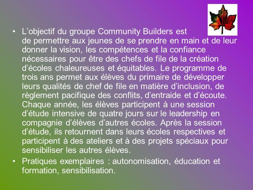 L'objectif du groupe Community Builders est