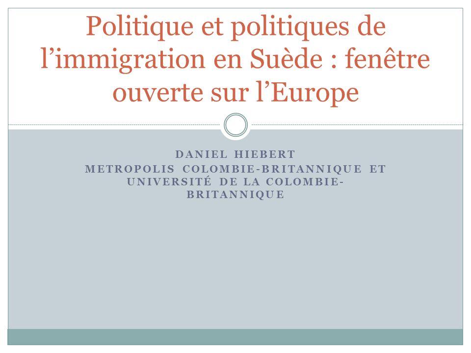 Politique et politiques de l'immigration en Suède : fenêtre ouverte sur l'Europe