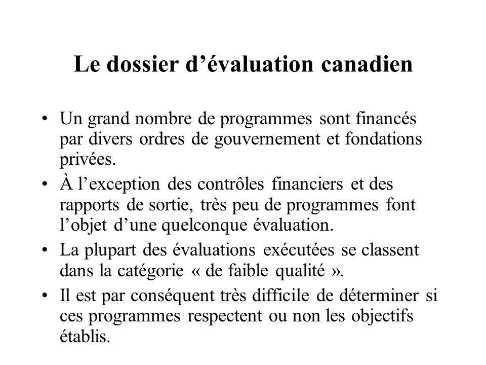 Le dossier d'évaluation canadien