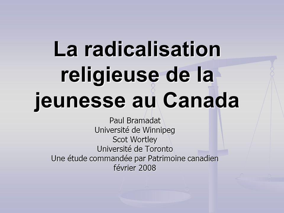 La radicalisation religieuse de la jeunesse au Canada