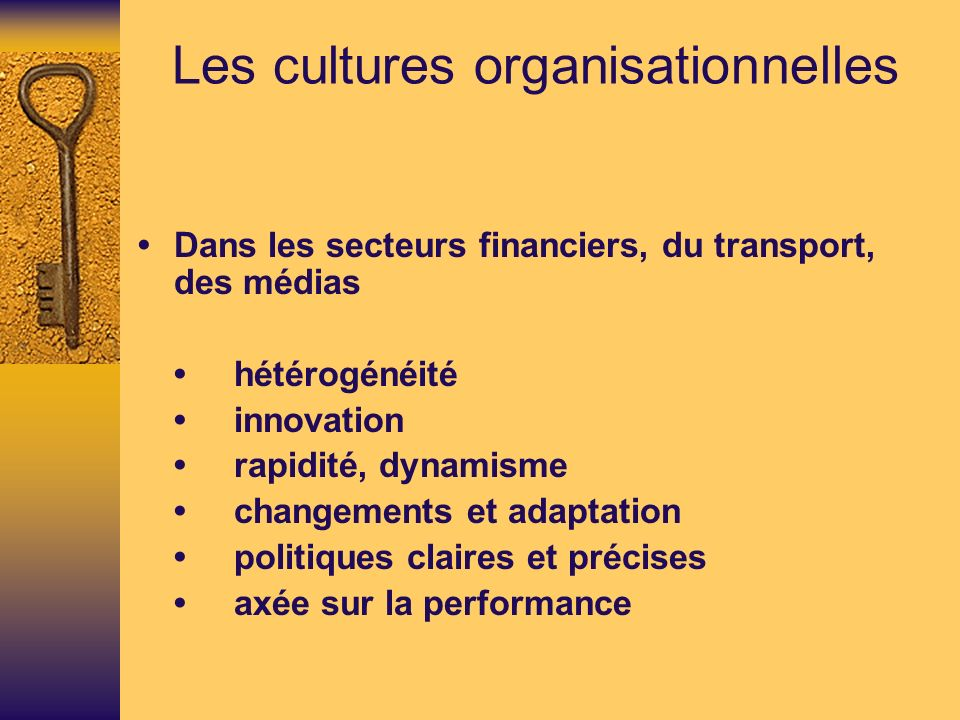 Les cultures organisationnelles