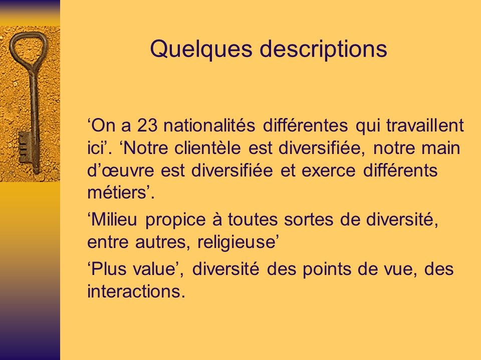 Quelques descriptions