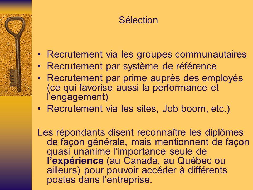 Sélection • Recrutement via les groupes communautaires. • Recrutement par système de référence.