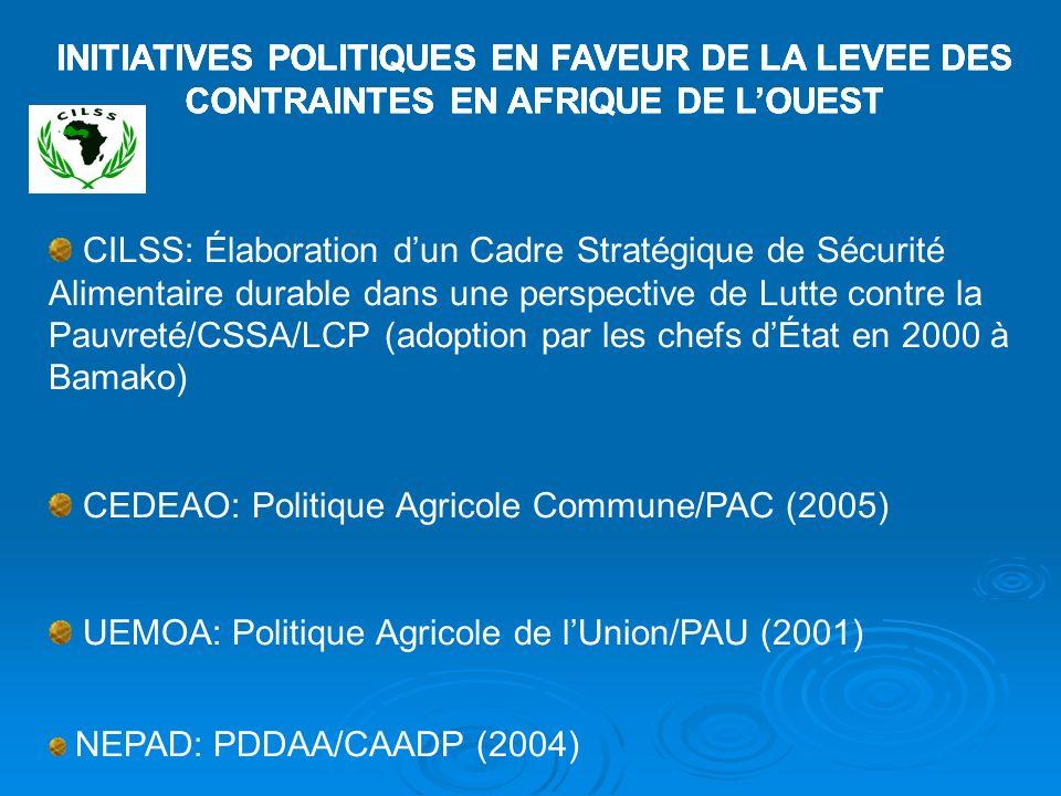 CEDEAO: Politique Agricole Commune/PAC (2005)