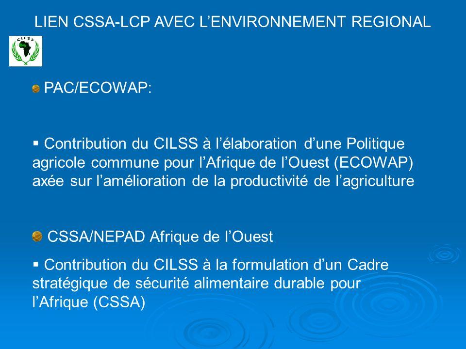 LIEN CSSA-LCP AVEC L'ENVIRONNEMENT REGIONAL