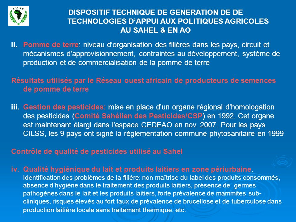 DISPOSITIF TECHNIQUE DE GENERATION DE DE