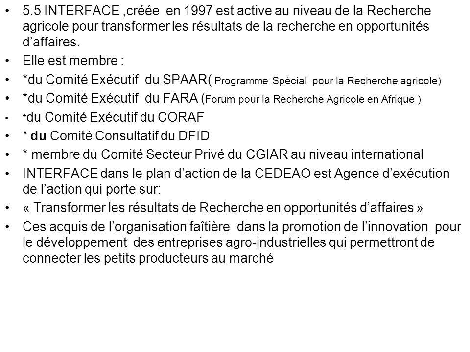 * du Comité Consultatif du DFID
