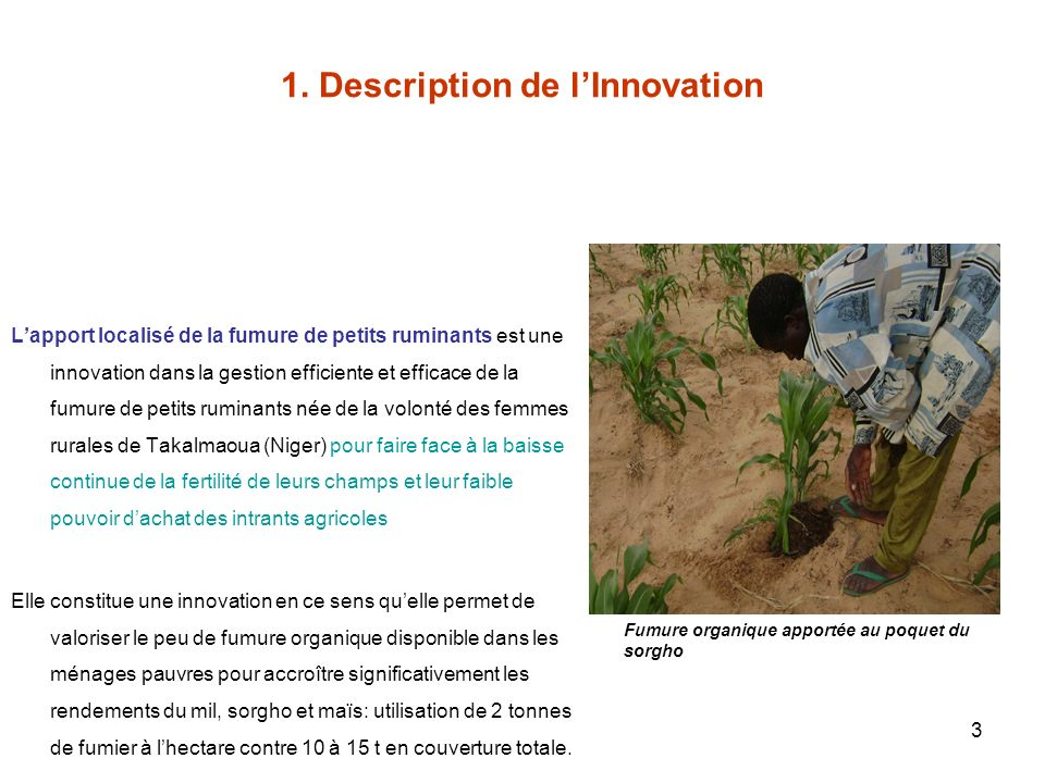 1. Description de l'Innovation