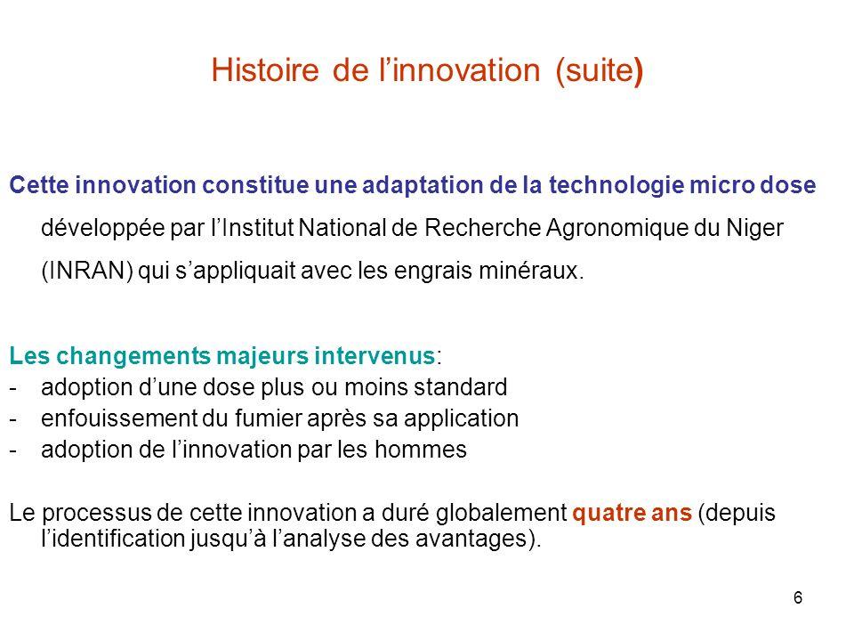 Histoire de l'innovation (suite)