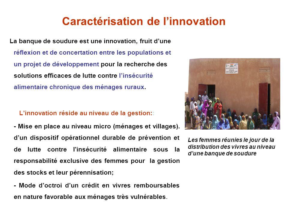 Caractérisation de l'innovation