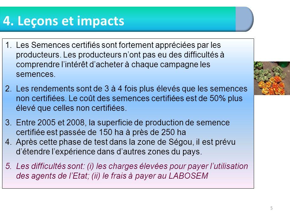4. Leçons et impacts