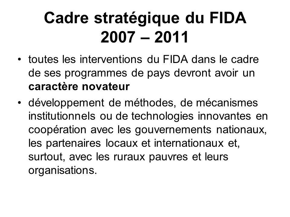 Cadre stratégique du FIDA 2007 – 2011
