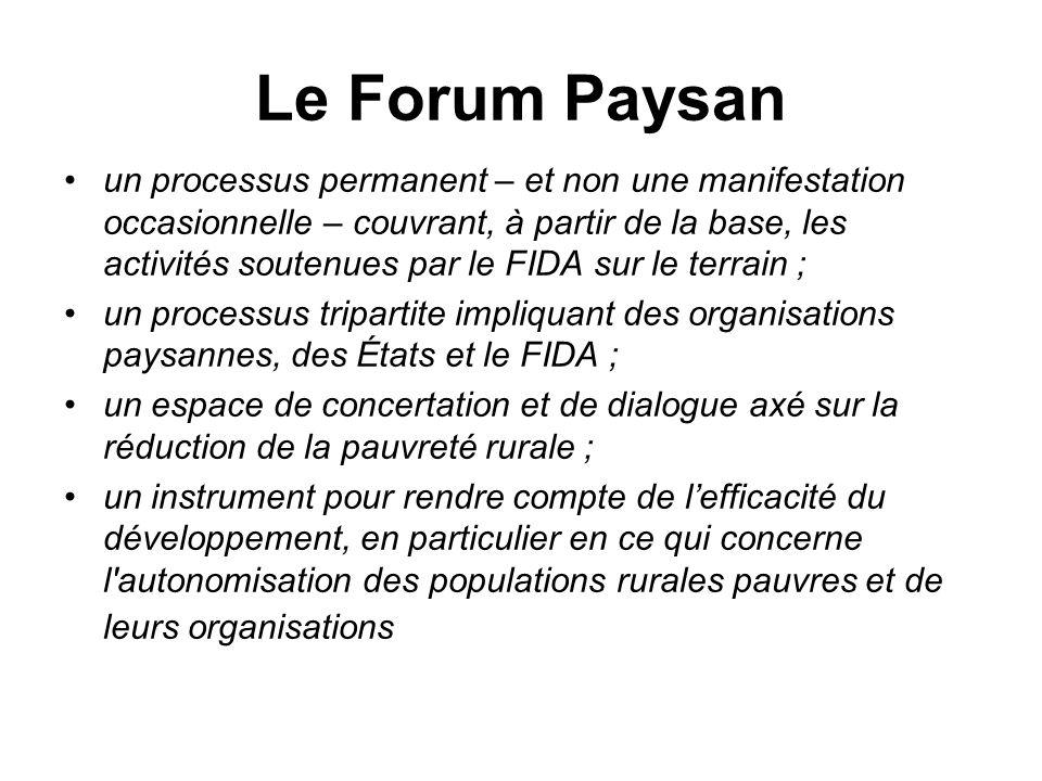 Le Forum Paysan