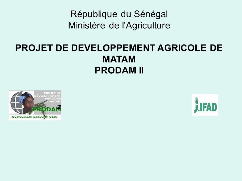 PROJET DE DEVELOPPEMENT AGRICOLE DE MATAM
