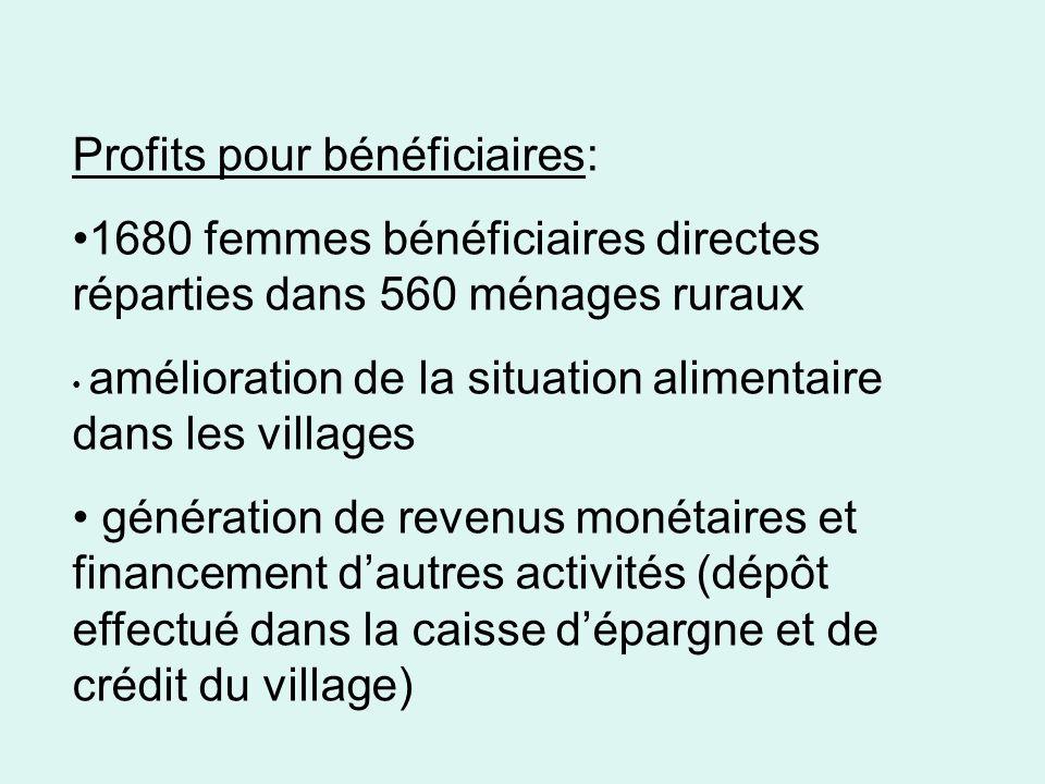 Profits pour bénéficiaires: