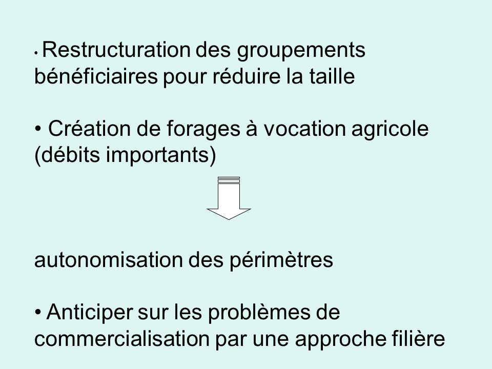 Création de forages à vocation agricole (débits importants)