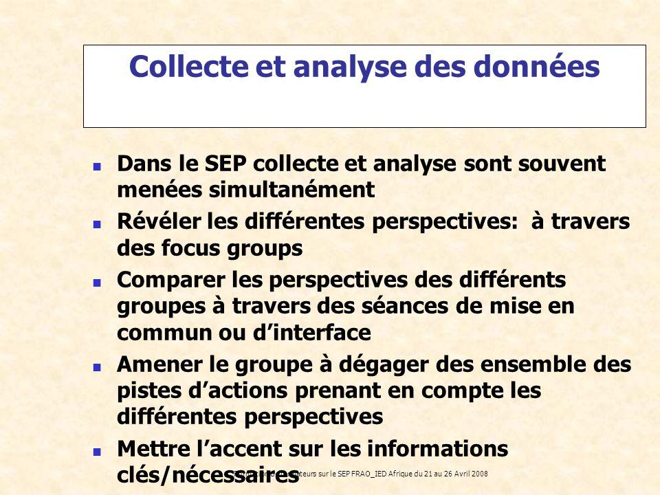 Collecte et analyse des données
