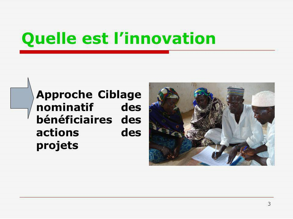 Quelle est l'innovation
