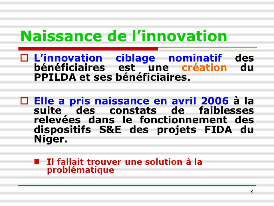 Naissance de l'innovation