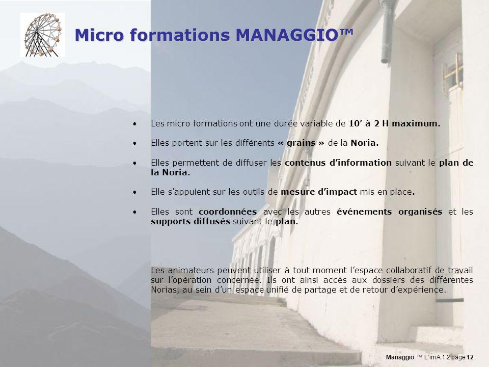 Micro formations MANAGGIO™