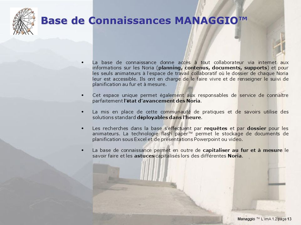 Base de Connaissances MANAGGIO™