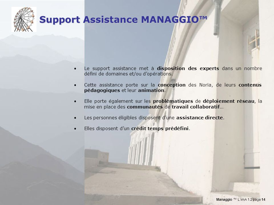 Support Assistance MANAGGIO™
