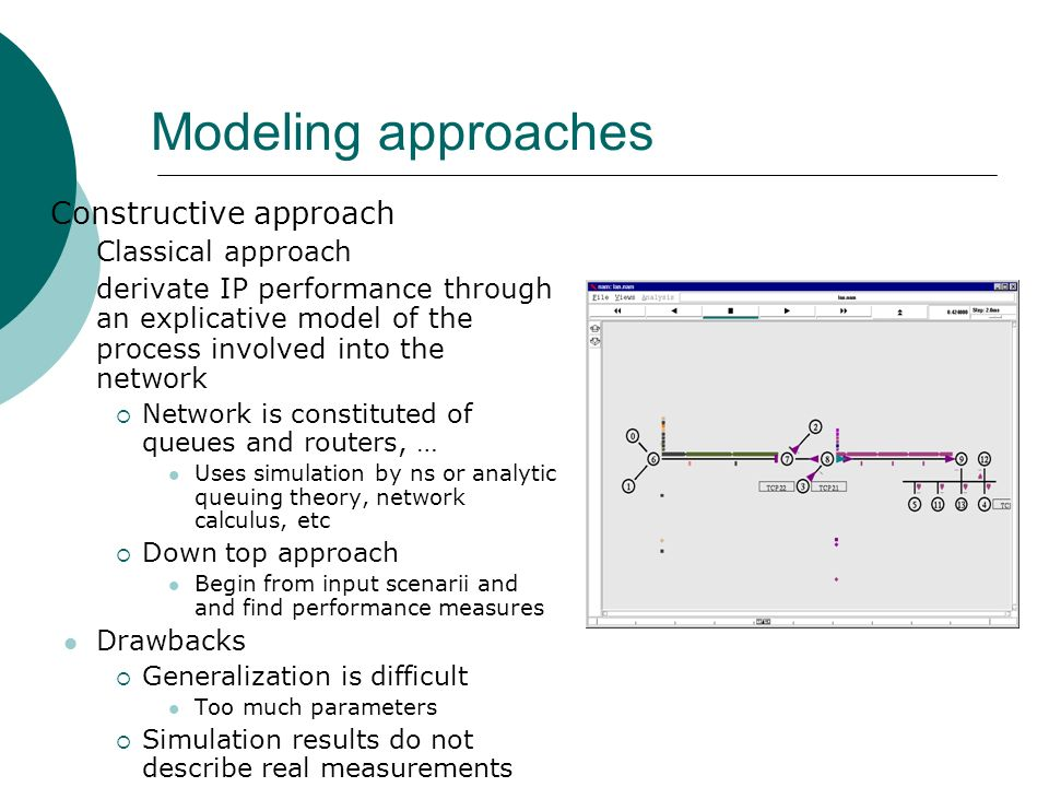 Modeling approaches Constructive approach Classical approach