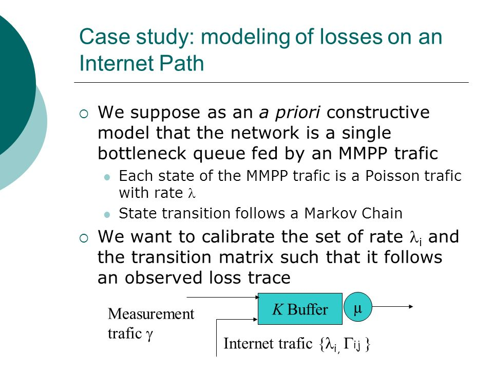Case study: modeling of losses on an Internet Path
